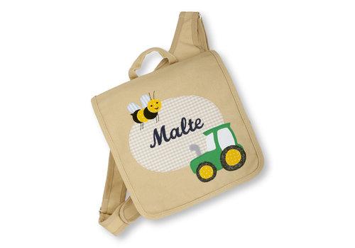 crêpes suzette crêpes suzette Kindergartentasche wandelbar zum Rucksack mit Namen bestickt Motiv: Traktor