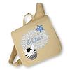 crêpes suzette Kindergartentasche wandelbar zum Rucksack mit Namen bestickt Motiv: Zebra, Farbe : Beige - Copy