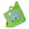 crêpes suzette Kindergartentasche / Rucksack mit Namen bestickt. Dinosaurier, Farbe : Grün