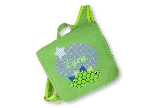 crêpes suzette Kindergartentasche / Rucksack mit Namen bestickt. Dinosaurier