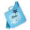crêpes suzette Kindergartentasche mit Namen bestickt - zum Kinderrucksack wandelbar. Fisch, Farbe : Türkis