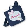 crêpes suzette Kindergartentasche mit Namen bestickt, Motiv: Einhorn, Farbe : Dunkelblau