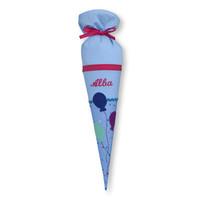 Geschwisterschultüte aus Stoff Luftballons mit Wunschnamen, Farbe: Hellblau