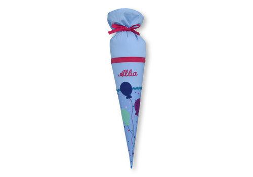 crêpes suzette Geschwisterschultüte aus Stoff Luftballons mit Wunschnamen