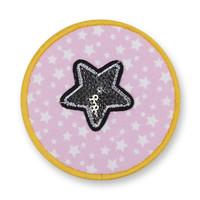 Klett Motiv aus Stoff für Schulranzen, Motiv : Sterne, Glitzer, creppies , Einfach den Ranzen stylen