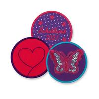 Klett Motiv aus Stoff für Schulranzen, Motiv : Schmetterling, creppies , Einfach den Ranzen stylen