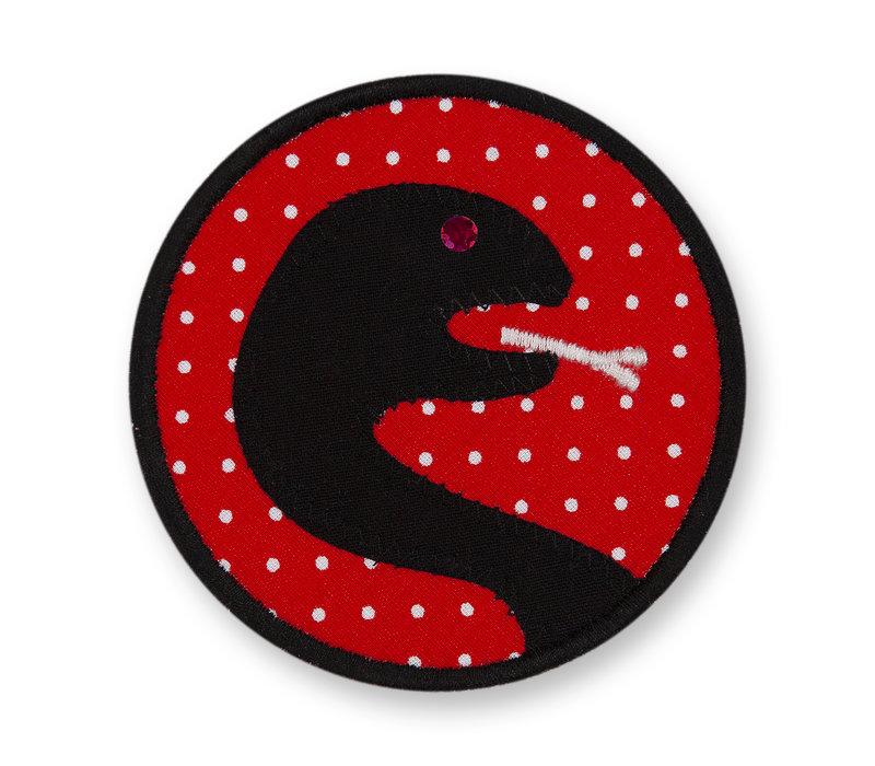 Klett Motiv aus Stoff für Schulranzen, Motiv : Schlange, creppies , Einfach den Ranzen stylen