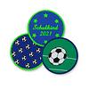 crêpes suzette Klett Motiv aus Stoff für Schulranzen, Motiv : Fussball, creppies , Einfach den Ranzen stylen
