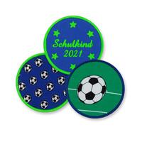 Klett Motiv aus Stoff für Schulranzen, Motiv : Fussball, creppies , Einfach den Ranzen stylen