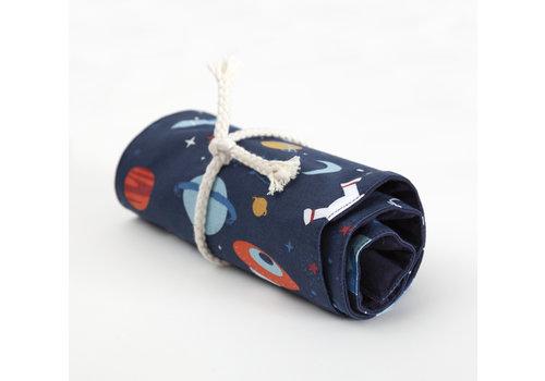 crêpes suzette Rollmäppchen für Jaxon Ölkreide, Motive Space, Weltall, Astronaut