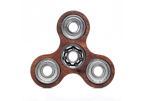Lumbr Fidget Spinner Walnut