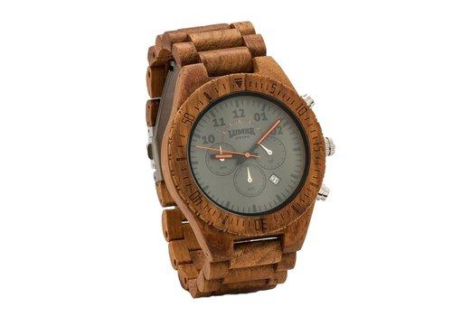 Lumbr Houten Horloge Chrono (Teak)