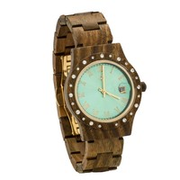 Aurora Holz Uhr Green Glänzend Sandel