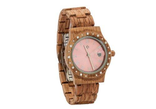 Lumbr Wooden Watch Aurora Shiny Pink Koa