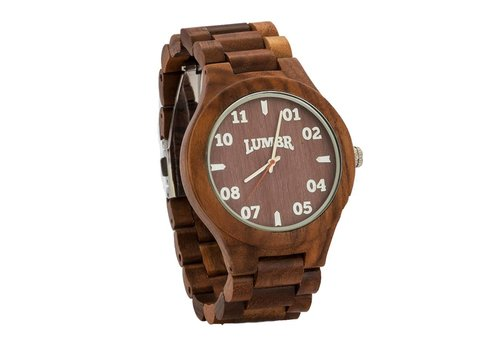 Lumbr T1M3 walnoot hout horloge (large)