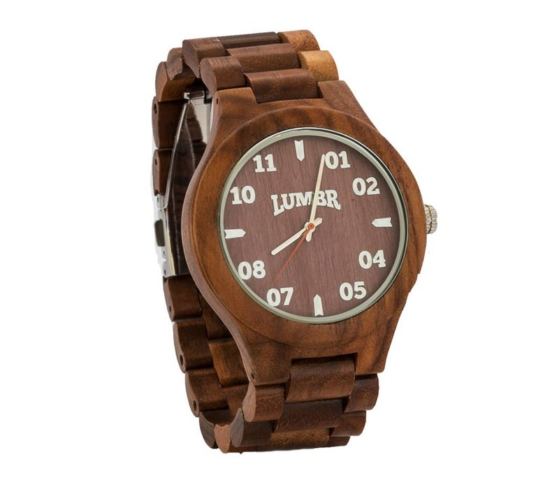 T1M3 walnoot hout horloge (large)