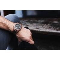 Troy Mechanical wooden watch - Walnut wood, Silver movement
