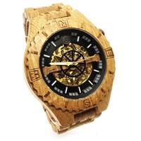 Troy watch - Kinetic. Van eikenhout met gouden binnenwerk | Lumbr