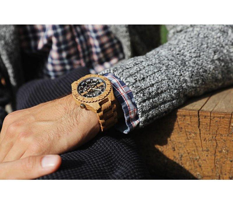 Troy Uhr Mechanisch - Eichenholz, mit Gold