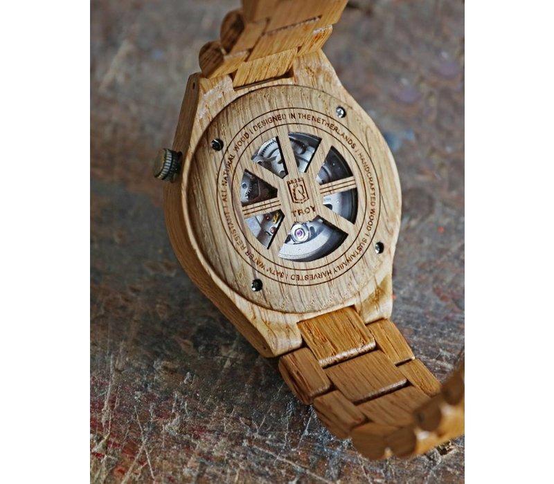 Troy watch - Kinetic. Van eikenhout met zilver binnenwerk | Lumbr