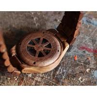 Troy Uhr Mechanisch - Walnuss holz, mit Silber