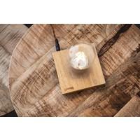Air | Schwebende Lampe mit Sockel aus Eichenholz
