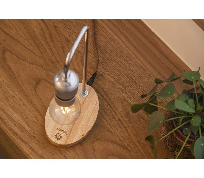 Air | Hängelampe mit Sockel aus Eichenholz