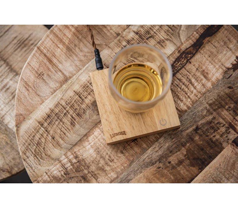 Air | Zwevend glas voor houten base
