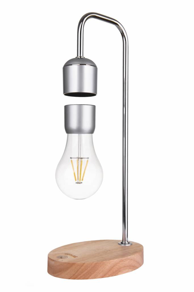 Lumbr Air Hanging Lamp With Oak Base And Chrome Fixture