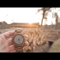 Houten Horloge Chrono (Teak)