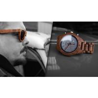 Lumbr Zomercombo: Houten Chrono horloge + houten zonnebril