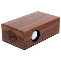 Beatblok Walnoot - Houten inductie speaker voor mobiel