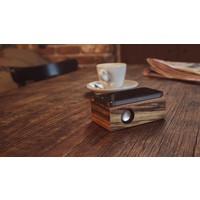 Beatblok Zebra - Houten inductie speaker voor mobiel