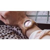 Aurora Holz Uhr Pink Shiny Koa