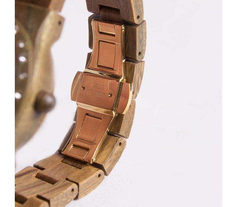 Wooden Watch Aurora Shiny Green Sandalwood