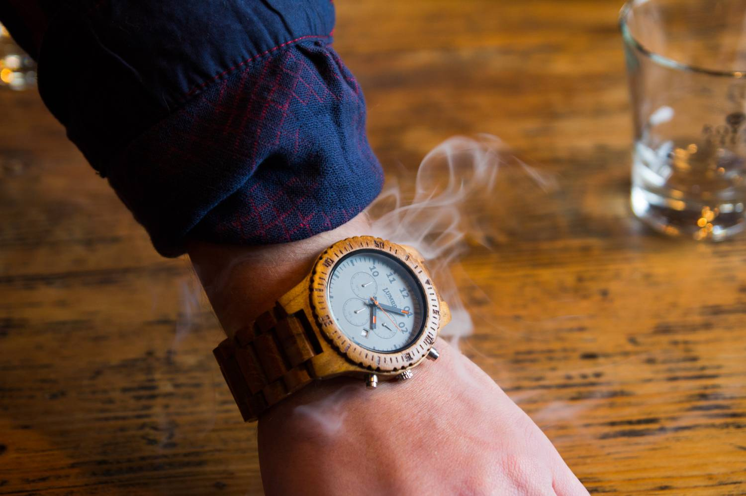 Wooden watch care