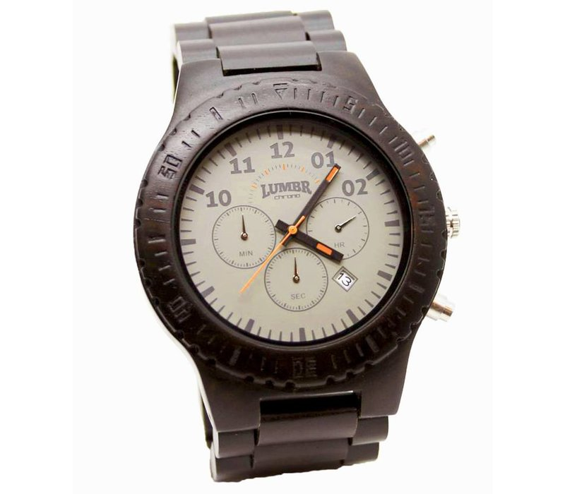 Houten Horloge Chrono (Ebbenhout)