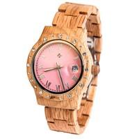 Wooden Watch Aurora Matt Pink Koa