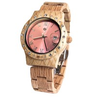 Wooden Watch Aurora Shiny Pink Koa