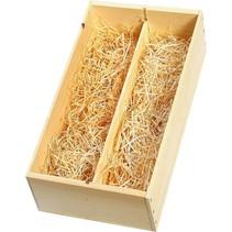 Wooden gift box 2 bottles