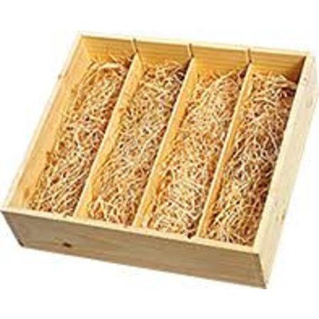 Geschenkbox aus Holz 4 Flaschen