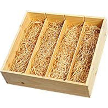 Wooden gift box 4 bottles