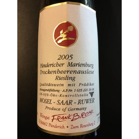 2005 Frank Brohl Pündericher Marienburg Riesling Trockenbeerenauslese
