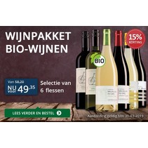 Trial package of organic wines