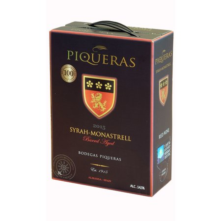 Piqueras 2018 Piqueras Monastrell-Syrah BIB (bag in box) 3 liters