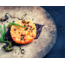 Raw salmon tartare