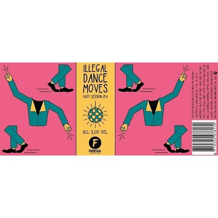 Brouwerij Frontaal Hazzy Session IPA Illegal Dance Moves