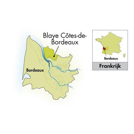 case 6 bottles Château Cap Saint Martin Blaye Côtes de Bordeaux Cuvée Prestige 2018 - Copy