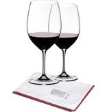 Riedel Vinum Bordeaux + poleerdoek en karaf