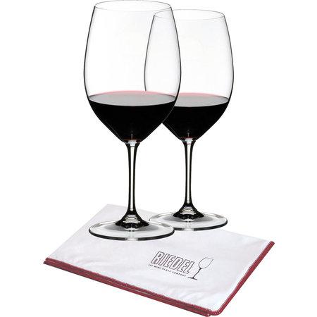 Riedel Vinum Bordeaux + polishing cloth and carafe